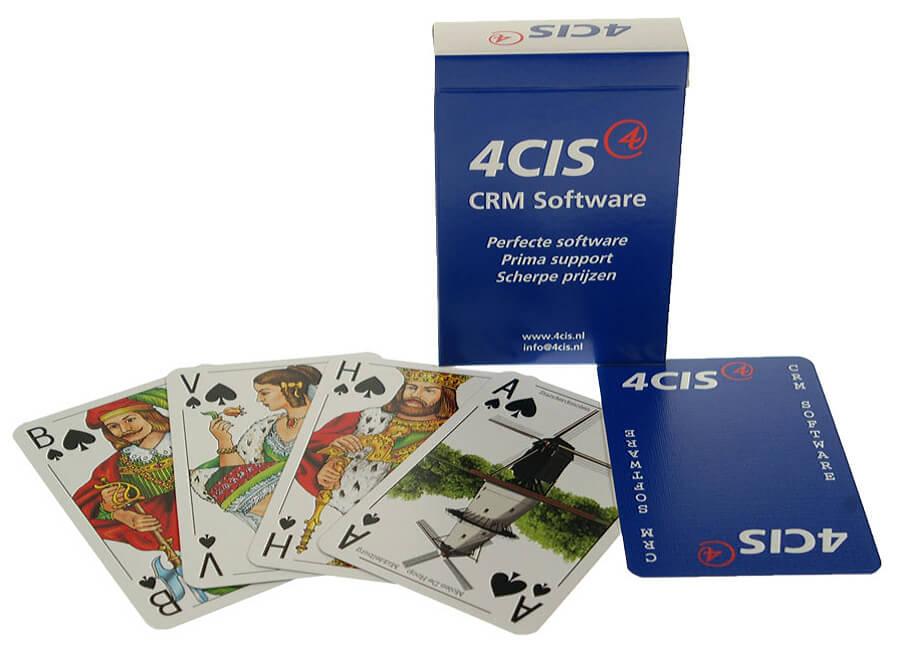 speelkaarten bedrukt voor CRM software