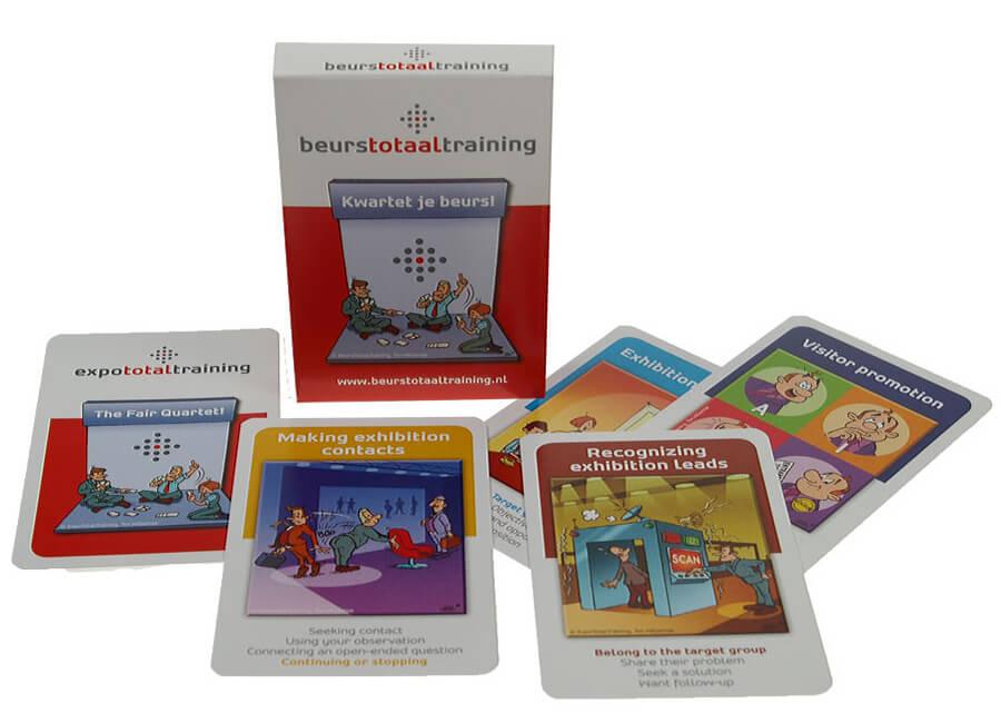 2-zijdig full-colour kaartspel Beurstotaal