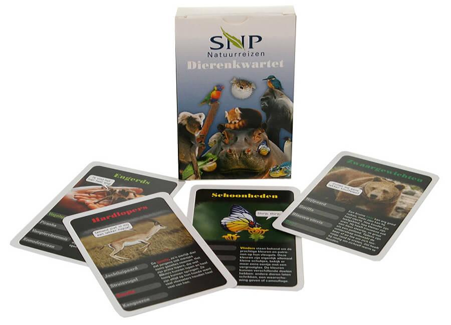 kwartetspel dieren SNP