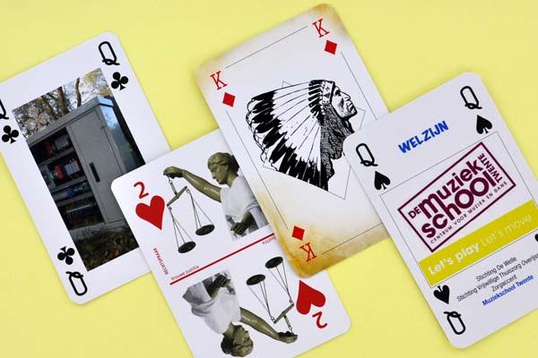 Speelkaarten met eigen design op de speelzijde