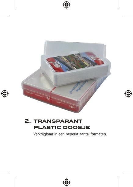 speelkaarten in plastic doosje