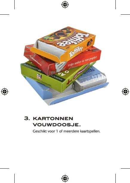 speelkaarten in kartonnen verpakking