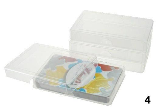 Plastic transparant doosje kwartetspel roem speelkaarten for Plastic doosjes