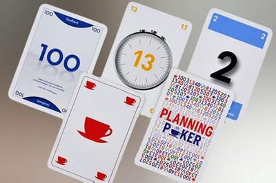 planning pokerkaarten met eigen logo