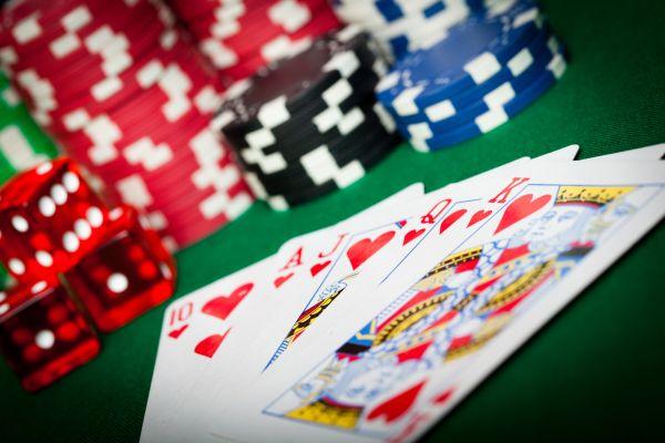 Poker speelkaarten met logo